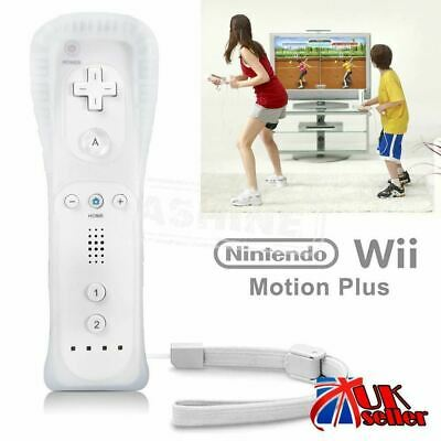 Uk White Remote Controller For Nintendo Wii & Wii U + Silicone + Strap Brand New