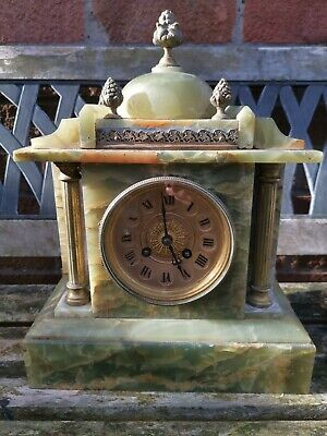Vintage Onyx Mantle Clock