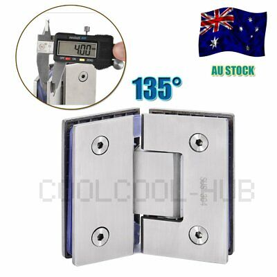 Stainless Steel 135° Frameless Wall to Glass Shower Door Hinges wall mount hinge