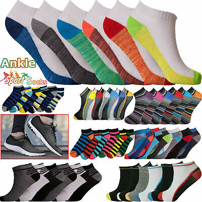 6 Pairs Trainer Liner Ankle Socks Mens Womens Cotton Rich Sports Socks Size 6-11