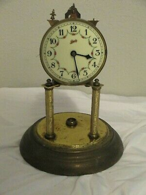 Vintage Schatz No.49 400 DAY Anniversary Clock for parts Repair Project AS IS