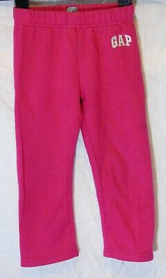 Girls Gap Pink Elasticated Waist Casual Comfy Warm Jogger Trousers Age 4 Years