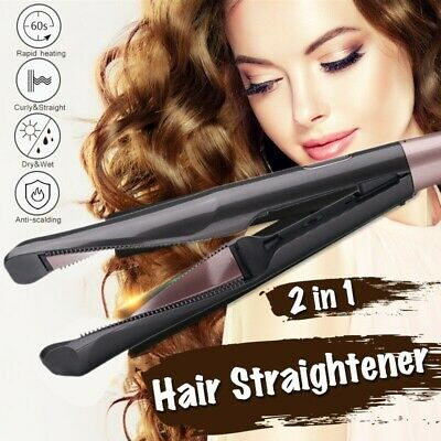 Original Negative Ions 2 in1 Hair Straightener And Curling Iron Hair Curler A