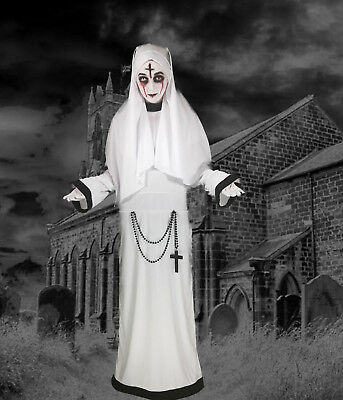 Adult Lady Nun Sister Conjuring Costume Scary Mary Fancy Dress Halloween 8/10