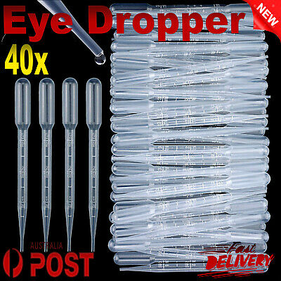 Disposable Plastic Transfer Pipettes Essential Oil Aromatherapy Eye Dropper 3ML