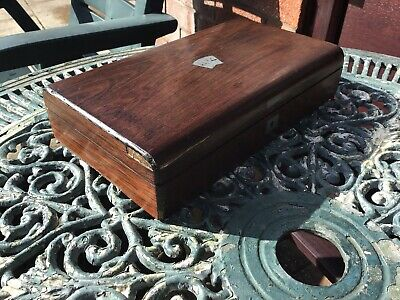 antique games box Rosewood Fitted