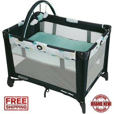 Graco Pack 'n Play On the Go Playard with Bassinet, Stratus - NEW