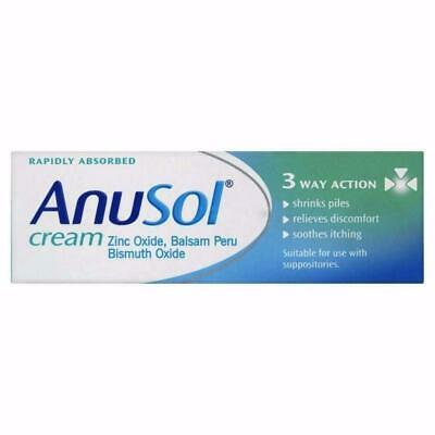 Anusol Haemorrhoid Relife Discomfort Cream 23g Itching Shrink Piles 3 Way Action