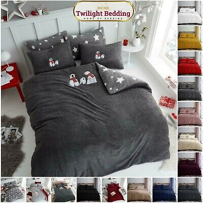 THERMAL TEDDY BEAR FLEECE | Fitted Sheet Mattress Cover | Single Double King
