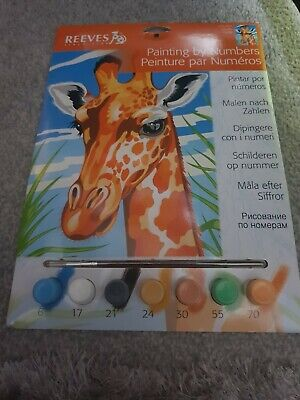 reeves paint by numbers giraffe