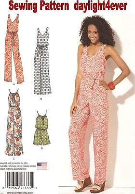 Women Dress Jumpsuit Sewing Pattern 1355 Simplicity Easy New 4-26 #i