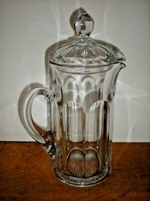 Heisey Hot Chocolate Pot Antique Covered Glass Pitcher Coffee Tea etc