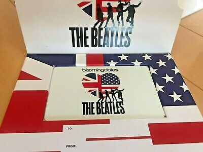 Limited THE BEATLES Gift Card from Bloomingdale's  - Collectible - No Cash Value