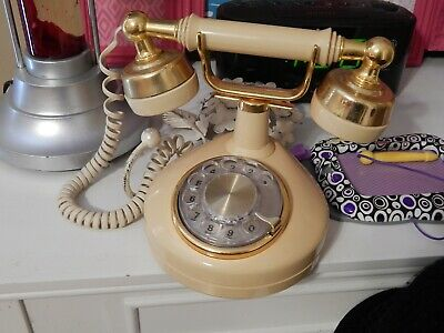 Vintage Western Electric Princess Rotary Dial French - Victorian Phone