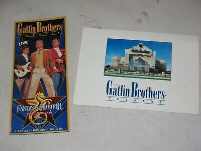 the Gatlin Brothers Theatre, Brochure Tickets and SIGNED Photo Keepsake 1996