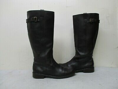 J Crew Dark Brown Leather Knee High Riding Boots Womens Size 9 Style 86766