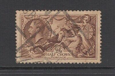 GB KGV 2s.6d. Chocolate-Brown SG450 2/6 SEAHORSES George V 1934 Used Stamp