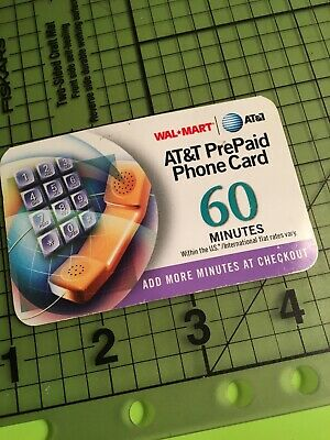 New 60 Minute AT&T Prepaid Phone - Calling Card - Landline Use only - FREE SHIP