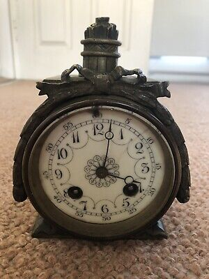 Antique Bronze Japy Freres Clock Movement For Spares Or Repair