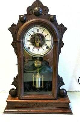 Antique 1876 George B. Owen East Lake Parlor Shelf Mantle Clock Parts/Repair