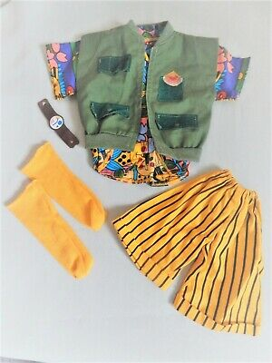 "1987 Hot Looks Dolls Mix 'N Match Fashions Set # 3833 ""Safari Suit""  Complete"