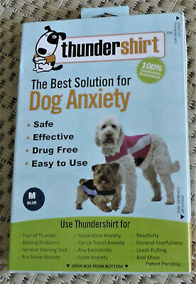 ThunderShirt The Best Solution for Dog Anxiety Solution - Blue Polo (MEDIUM)