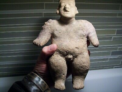 pre columbian Jalisco Colima Figure (9 1/2) tall  authentic