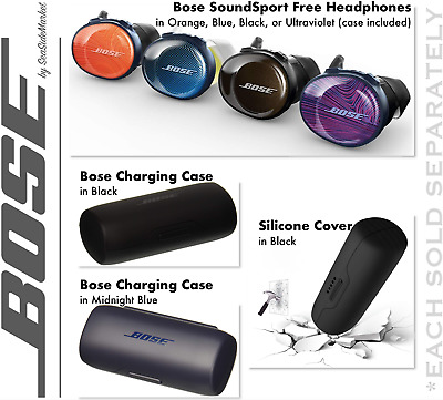NEW Bose SoundSport FREE Truly Wireless Sport Headphones ⊕ Silicon Cover ⊕ Case