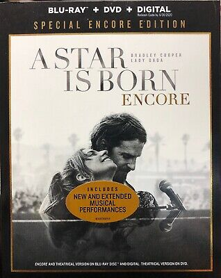 A STAR IS BORN SPECIAL ENCORE EDITION - Blu-ray, DVD & Digital WITH SLIPCASE