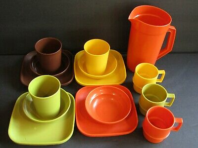 TUPPERWARE TOYS~15 Pieces~PITCHER~CUPS~PLATES~BOWLS~TUMBLERS