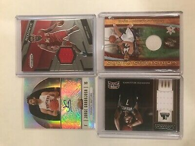 LOT of (12) NBA Basketball Game-Used Jersey and Autograph Relic Lot