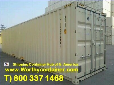 40' High Cube New Shipping Container, 40ft HC One Trip Container, Charleston,SC