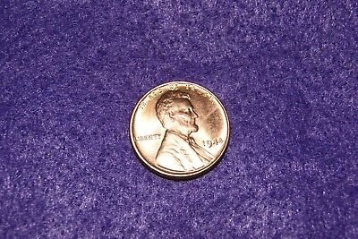 1944p Philadelphia mint uncirculated red lincoln wheat cent penny [uat-3]
