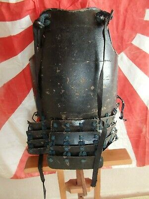 Antique Edo Period Japanese Samurai Old Armor Yoroi Do Chestplate w/name