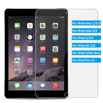 Screen Protector Tempered Glass Film For iPad 2/3/4, Air 1/2, 9.7, Pro 10.5/11#