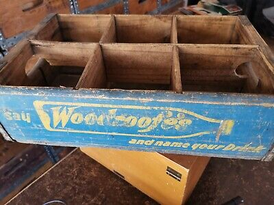 Vintage wooden box crate. Woodroofe's branded.