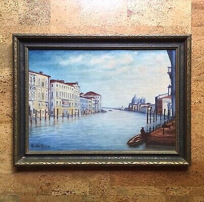 Charming Antique Oil Painting of The Grand Canal Venice, Early 20th C American