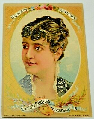 Singer Sewing Machine Victorian Trade Card Girl Named Patti