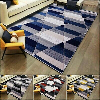 Non Slip Large Geometric Rugs Carpet Mat Living Room Bedroom Hallway Runner Rug