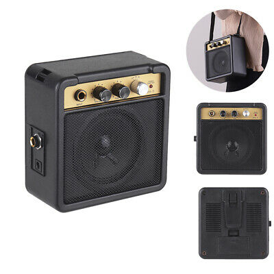 Mini Guitar Amplifier Portable Speaker Sound Amp 5W For Electric Guitar Uku L7N1