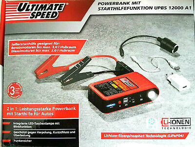 ULTIMATE SPEED® Powerbank mit Starthilfefunktion UPBS 12000 A1