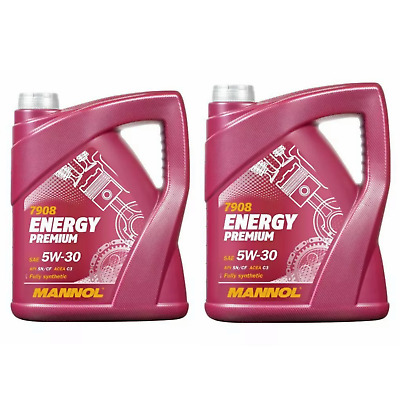 MANNOL PREMIUM ENERGY 10 Litre 5w-30 Fully Synthetic Engine Oil Low Saps C3