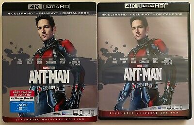 Marvel Ant Man 4K Ultra Hd Blu Ray 2 Disc Set + Slipcover Sleeve Free Shipping