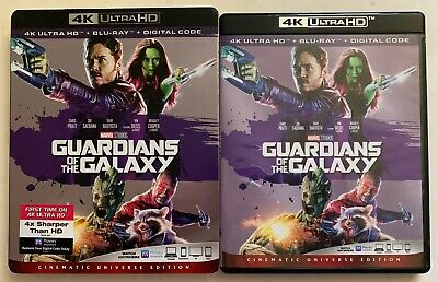 Marvel Guardians Of The Galaxy 4K Ultra Hd Blu Ray 2 Disc Set + Slipcover Sleeve