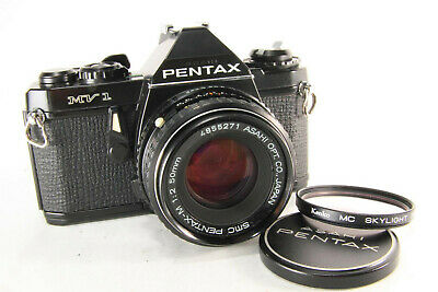 Pentax MV1 35mm SLR pentax 50mm f/2 For PK mount [Excellent] w/ Cap From Japan