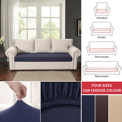 Sofa Couch Slipcover Stretch Covers Elastic Fabric Settee Protector Fit 12
