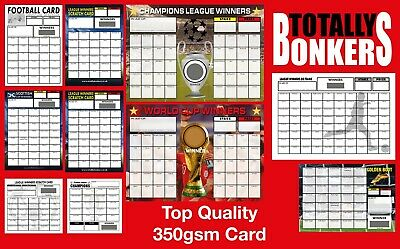 Football Fundraising Scratch Cards  20 30 35  40 80 100