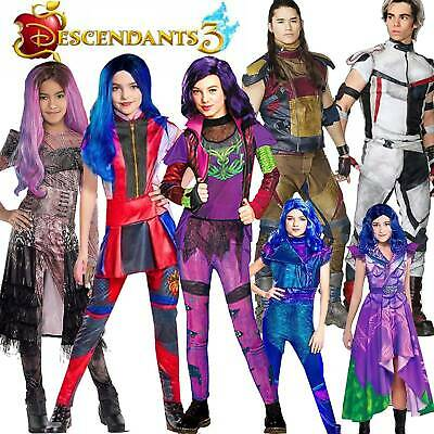 AU Kids Descendants 3 Audrey Mal Carlos Carnival Cosplay Costumes Fancy Dress