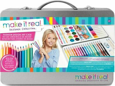 Make It Real Artists Art Case Colouring Pencils Painting Set Childrens/Adults