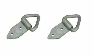 Recovery Lashing Rings 2 x Galvanized Triangular trailers Tie Down Triangle Ring